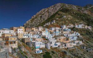 particolare di paese greco
